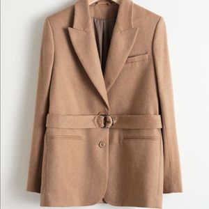 & Other Stories Belted Wool Blend Blazer NWT
